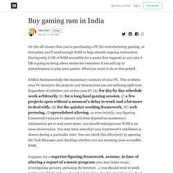 Buy gaming ram in India - KRG KART - Medium