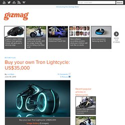 Buy your own Tron Lightcycle: US$35,000