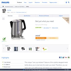 Philips - Kettle 1.7 l 3000 W 1 cup ind. brushed metal - HD4671/20 - Kettle - Kettles and Tea Makers - Household products