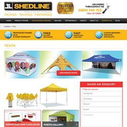 Custom pop up tents- Shedline Instant Marquee