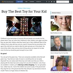 Buy The Best Toy for Your Kid