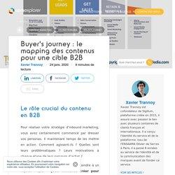 Buyer's journey : le mapping des contenus pour une cible B2B