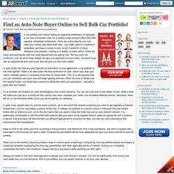 Find an Auto Note Buyer Online to Sell Bulk Car Portfolio! by Daniel Clark