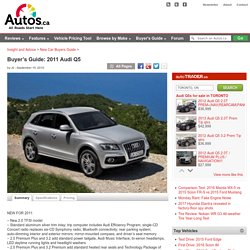 Buyer's Guide: 2011 Audi Q5