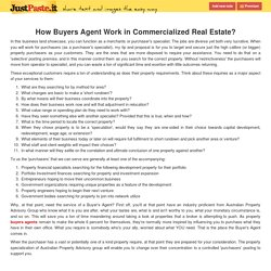 How Buyers Agent Work in Commercialized Real Estate?