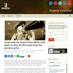 Good news for buyers! Post-RERA - Favista Real Estate Blog