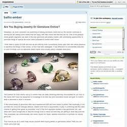 Are You Buying Jewelry Or Gemstone Online?