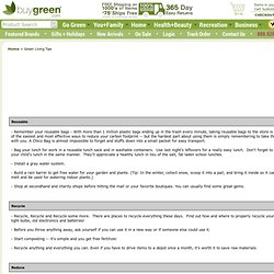 Green Living Tips - BuyGreen.com - Your Trusted Source for Green and Eco-Friendly Products