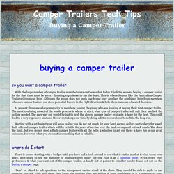buying a camper trailer