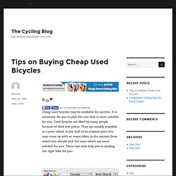 Tips on Buying Cheap Used Bicycles