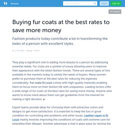 Buying fur coats at the best rates to save more money