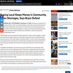 Buying Local Keeps Money in Community, Eases Shortages, Says Bryce Oxford