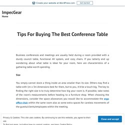 Tips For Buying The Best Conference Table