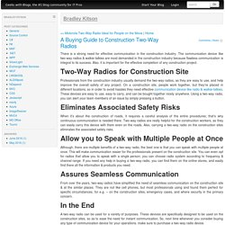 A Buying Guide to Construction Two-Way Radios
