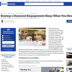 Buying a Diamond Engagement Ring: What You Need to Know