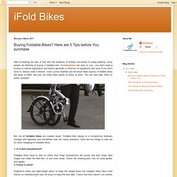 buying-foldable-bikes-here-are-5-tips