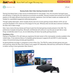 Best Gaming Console Products in USA