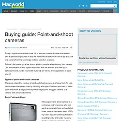 Point-and-shoot cameras buying guide