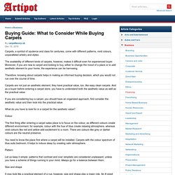 Buying Guide: What to Consider While Buying Carpets