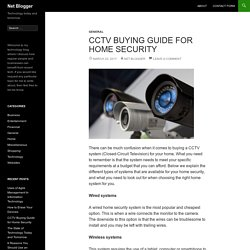 CCTV Buying Guide for Home Security