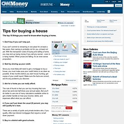 Buying a House - Money 101, Lesson 8 - Money Magazine