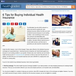 6 Tips for Buying Individual Health Insurance