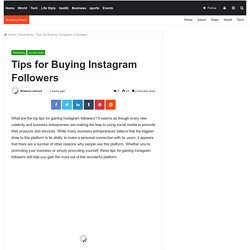 Tips for Buying Instagram Followers -