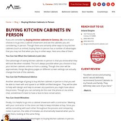 Buying Kitchen Cabinets in Person