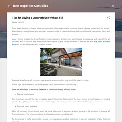 Tips for Buying a Luxury House without Fail
