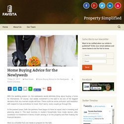 Home Buying Advice for the Newlyweds - Favista Real Estate Blog