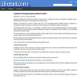 A guide for buying nicotine products online