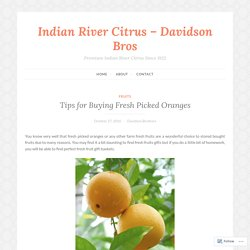 Tips for Buying Fresh Picked Oranges – Indian River Citrus – Davidson Bros