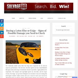 Buying a Lotus Elise or Exige - Signs of Possible Damage you Need to Check