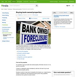 Buying bank-owned properties - Trulia Voices