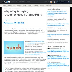 Why eBay is buying recommendation engine Hunch