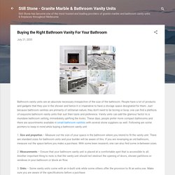 Buying the Right Bathroom Vanity For Your Bathroom