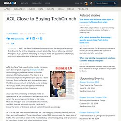 Breaking: AOL Close to Buying TechCrunch: Tech News «
