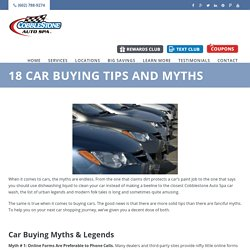 18 Car Buying Tips and Myths