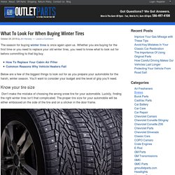 What To Look For When Buying Winter Tires