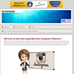 buyinstafollowersuk - Will it be an idea that is good Buy More Instagram Followers?