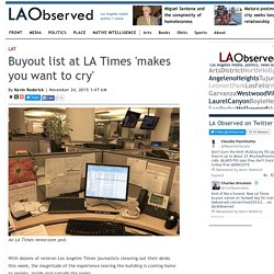 Buyout list at LA Times 'makes you want to cry'