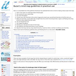 Buzan's mind map guidelines in practical use