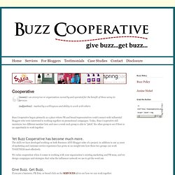 Buzz Cooperative - Home