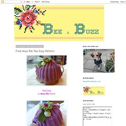 Bee and Buzz: Free Moss Rib Tea Cosy Pattern
