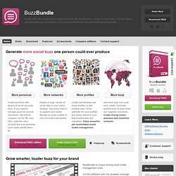 BuzzBundle: the smartest of the social media management tools