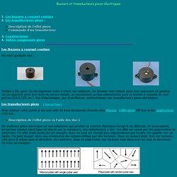 Buzzer et transducteurs piezo