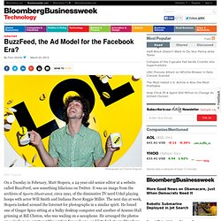 BuzzFeed, the Ad Model for the Facebook Era?