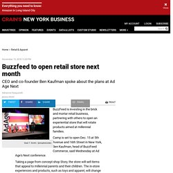 Buzzfeed to open retail store next month