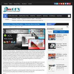 CodeCanyon – HTML5 Photo Gallery – Resizable Album Grid XMLBuzz Theme