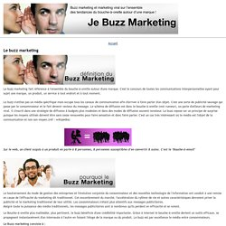 buzzmarketing: Le buzz marketing